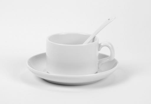 Кофейная чашка с блюдцем и ложкой Print-911 - рекламно-производственная компания
